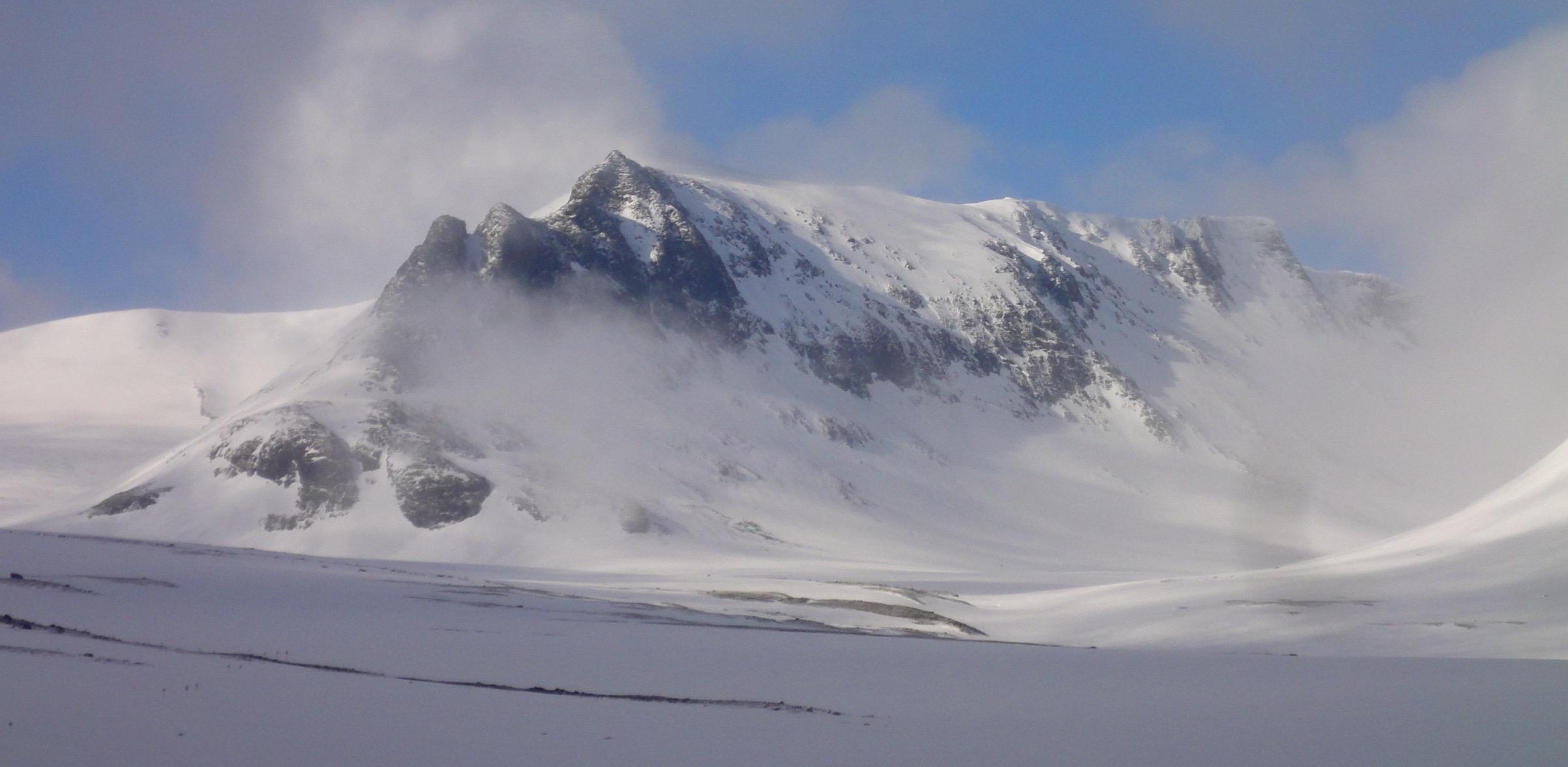 Storsola 1728m Jämtlands landskaps högsta topp. Foto: Mattias Skantz